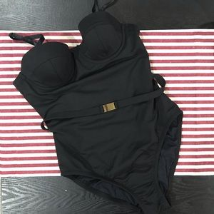 Black One Piece Swimming Suit J Crew
